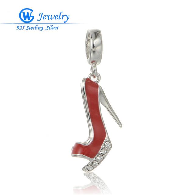 2016 925 joyería de plata esterlina diy señora shoes charm adapta europea pulseras gw fine jewelry berloques de prata 925 s190h20