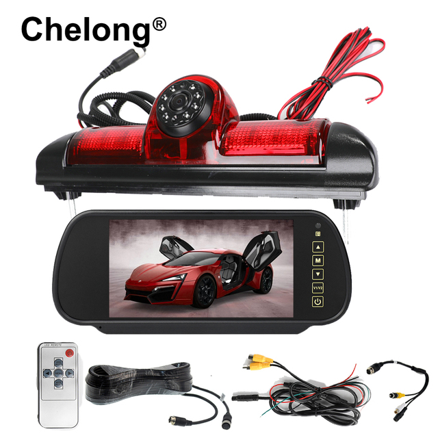 Car Brake Light Rear view camera Backup CCD for Citroen JUMPER III / Fiat DUCATO X250 / Peugeot BOXER III LED IR Parking Camera