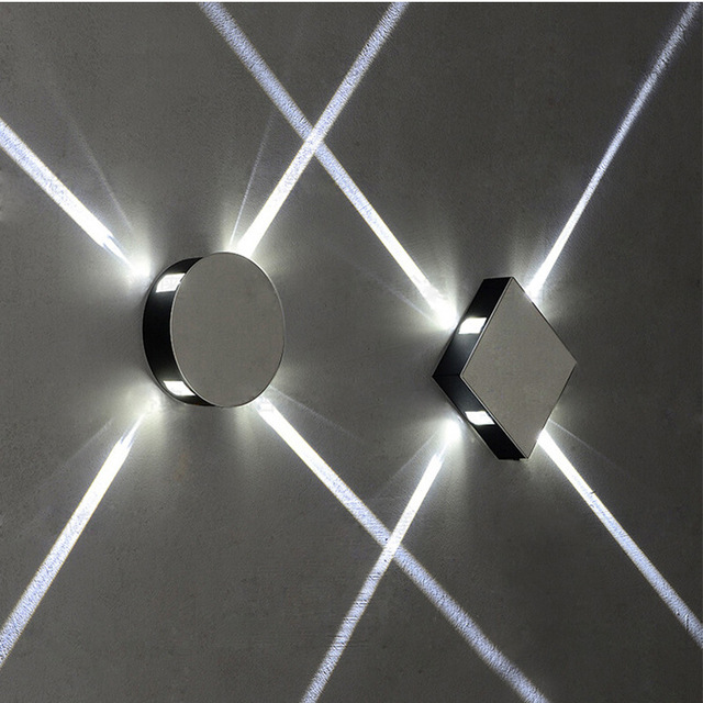 led croix effet de lumi re mur lampe all e balcon. Black Bedroom Furniture Sets. Home Design Ideas