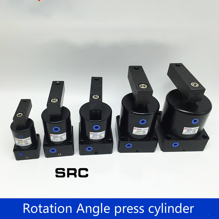 SRC25/32/40/50/63-90L/R rotating cylinder rotating clamping cylinder 90 degrees 180 degrees 45 degrees