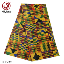 Latest Fashion African Printing Chiffon Fabric 5 yards Digital Breathable for Clothing CHF-25-28