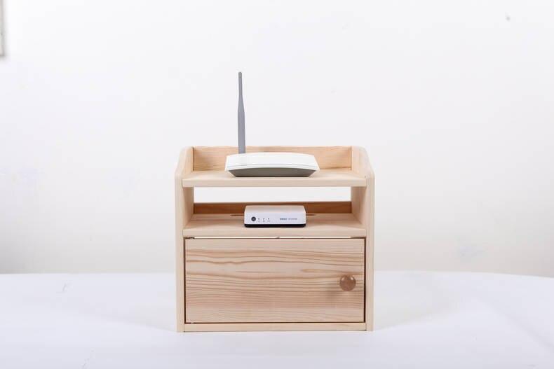 Organisateur de bureau en bois Wifi routeur boîte de rangement étagère support de câble cordon sortie conseil conteneur fil sécurité rangée maison