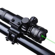 Открытый зеленый лазерный оптический прицел с креплением для направляющая пистолета и винтовки страйкбол пистолет Охота Стрельба 9/20 мм