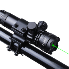Outdoor Green Laser optical Sight Scope With Mount for Pistol Rail and Rifle For Airsoft Gun riflescope Hunting Shooting 9 /20mm цена