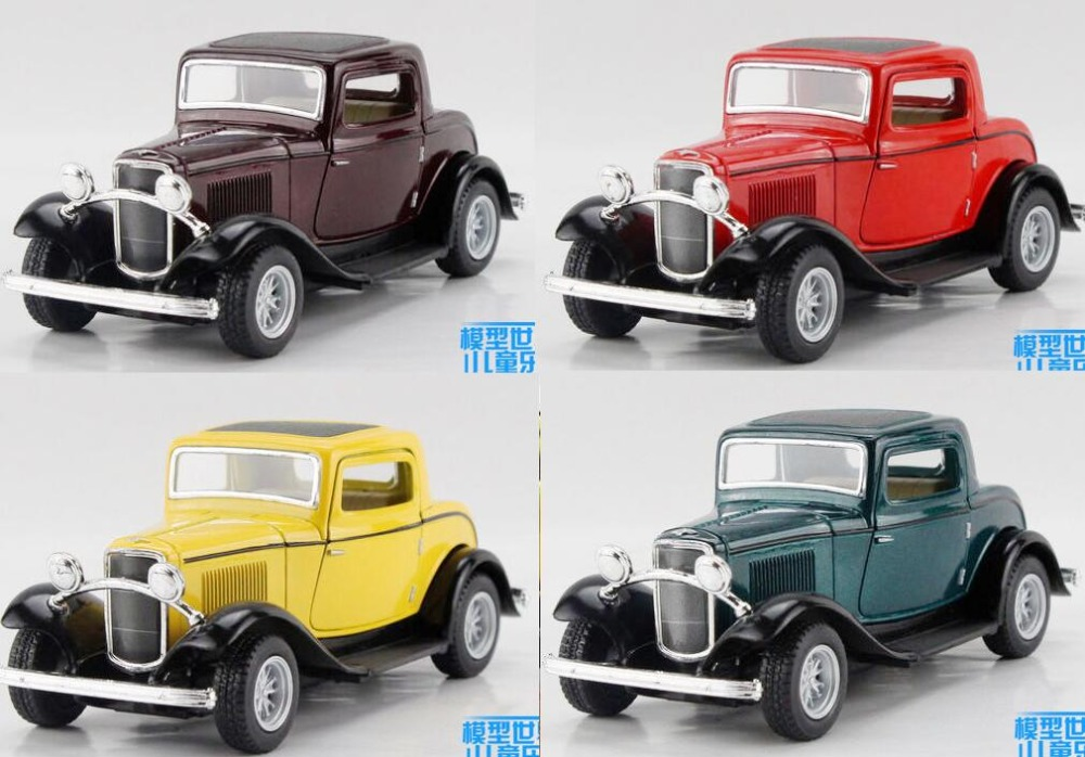 Candice guo alloy car model 1:34 Ford 1932 3 window Classic vintage ...
