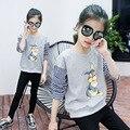 Модные Девушки горячие продажи Детей Толстовки Повседневная Дети девушки Clothing Симпатичные Длинным Рукавом