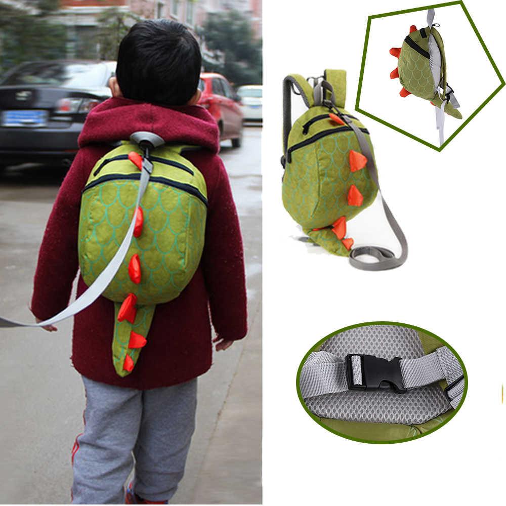 ไดโนเสาร์น่ารักเด็กความปลอดภัยใช้พลังจากกระเป๋าเป้สะพายหลังเด็กวัยหัดเดินป้องกัน - สูญหายกระเป๋าเด็กทนทาน/ทนทาน/สบายกระเป๋านักเรียนขนาดเล็ก