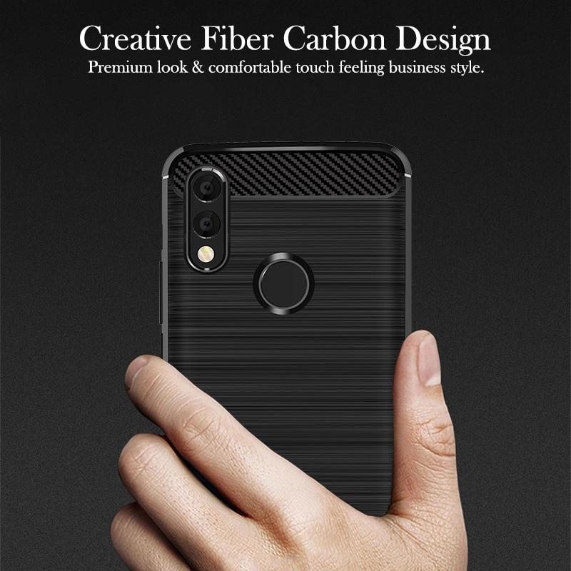 Emaffie סיליקון מקרה עבור Huawei Honor 8X מקס 9i 2018 כיסוי כבוד Mate 20 לייט 10 נוער אופנה מגן מעטה LS