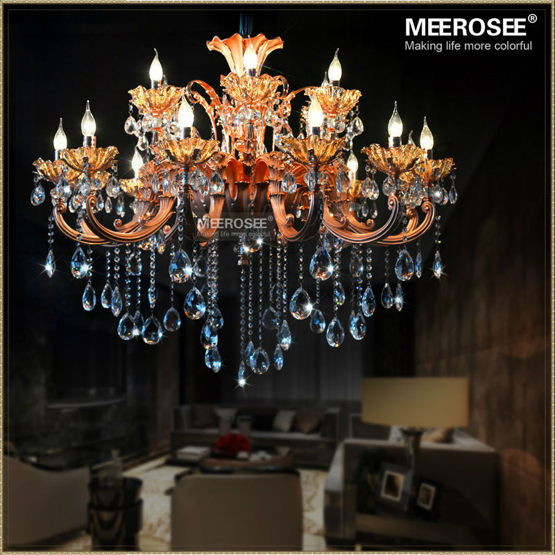 buy modern 18 arms chandeliers crystal light fixture rose gold floral crystal. Black Bedroom Furniture Sets. Home Design Ideas