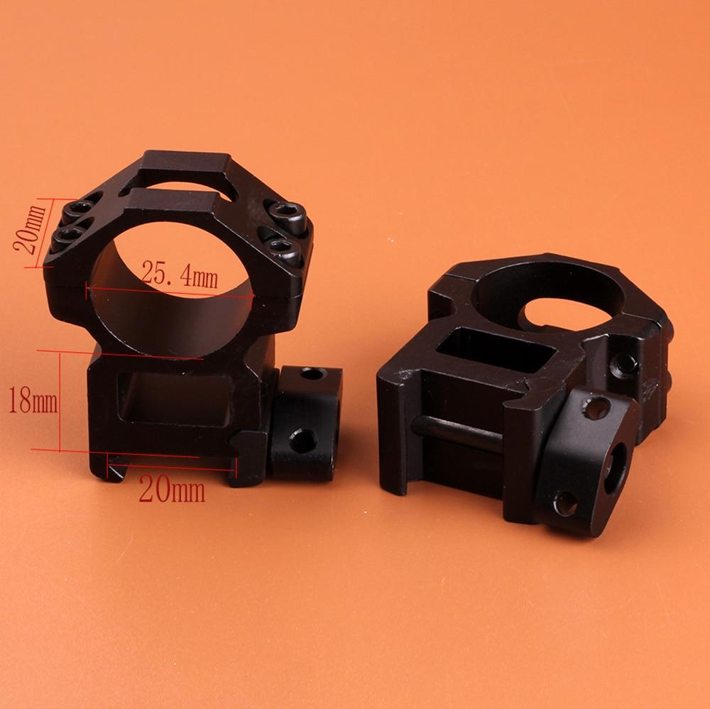 2PCS Tactical High Profile QD 30mm Ring 21mm Picatinny Weaver Rail Scope Mount