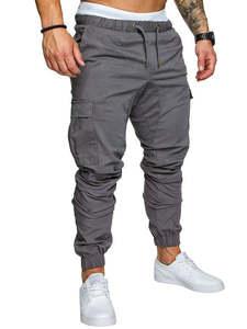 Joggers Pants Trousers Harem Hip-Hop Autumn Male New Solid M-4XL
