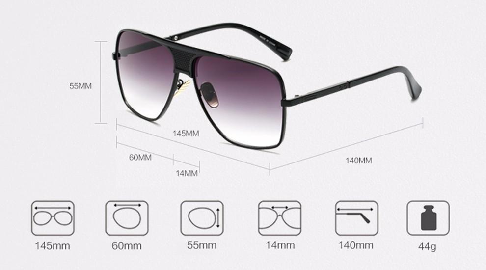 Compre Peekaboo Nova Marca 2017 Steampunk Quadrado Óculos De Sol Dos ... f648a4d45a