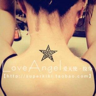 autocollant de tatouage étanche femelle imprimé léopard imprimé zèbre  tatouage de coeur