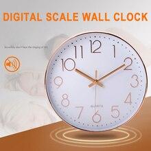 92b6a0c71b2b Reloj de cuarzo de oro rosa adorno de moda reloj Digital 3D 12 pulgadas de cuarzo  Reloj de pared Envío Directo