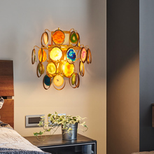 Modern LED Wall Light Sconce Agate Bedroom Bedside Living Room Stair Aisle Hotel Wall Lamp Lights Home Deocr Wall Lamps Sconces modern creative led wall lamps nordic art bedside aisle wall lamp corridor stair wall light bedroom bathroom sconce wall lights