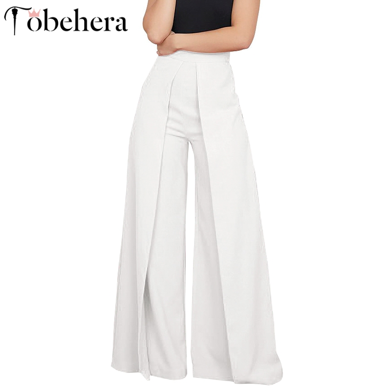 Glamaker Knitted high waist wide leg pants capris Women casual pants bottoms summer bodycon black elegant party club trousers
