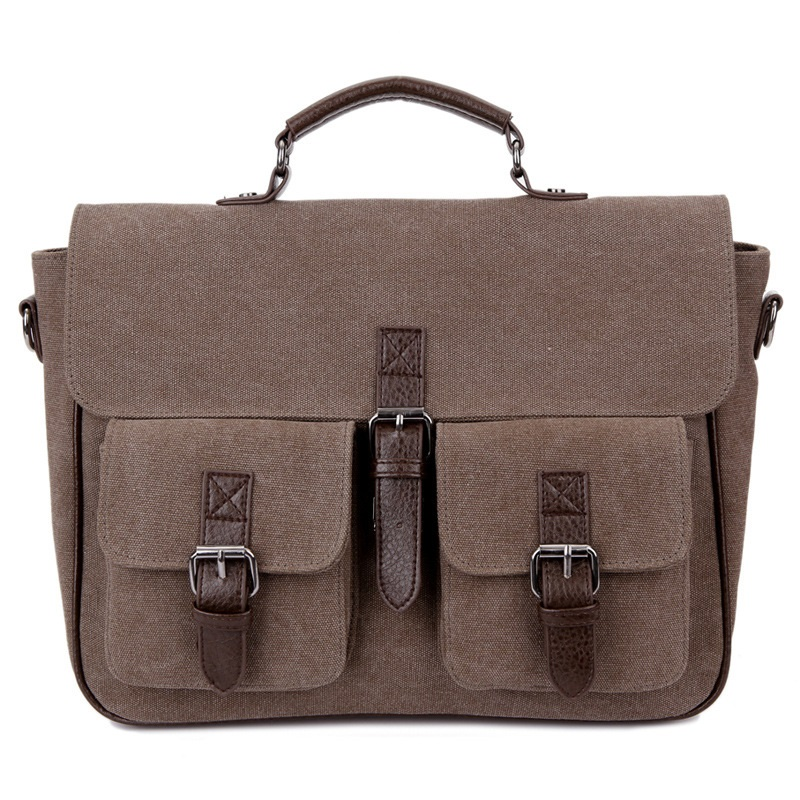 Canvas Messenger Bag Business Casual Male Satchel Travel Shoulder Laptop Bags Masculina Vintage Men Crossbody Briefcase Bolsas