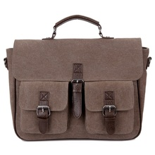 Canvas Messenger Bag Business Casual Man Satchel Travel Shoulder Laptop Väskor Masculina Vintage Men Crossbody Briefcase Bolsas