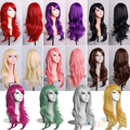 Women's Lady Long Synthetic Hair Curly Wavy Wig Anime Cosplay Party Full Wigs