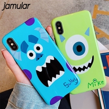 JAMULAR Cute Sully Mike Phone Case For iPhone XS MAX XR 6 6s