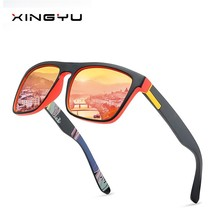 2019 Men Polarized Light Sunglasses Square Sport Colorful Sun Glasses PC Frame Mirror Luxury Brand Designer UV400