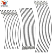 10 шт. 1,5-2 мм EDC брелок для ключей из нержавеющей стали проволока кабель петля винтовое устройство блокировки кольцо для ключей для кемпинга подвесной инструмент