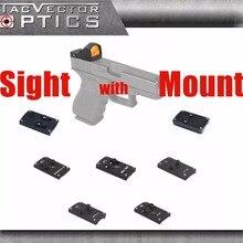 Векторная Оптика Сфинкс Красный точка зрения с пистолетом заднего крепления для GLOCK 17 19 SIG SAUER BERETTA Спрингфилд XD S& W M& P HK USP 1911