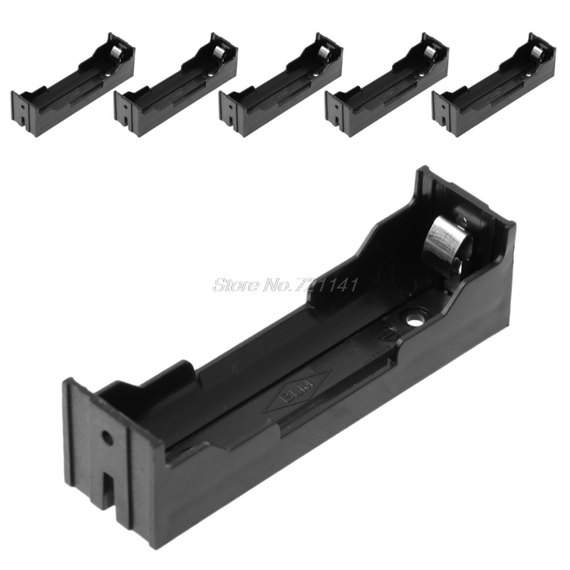 5Pcs/Set DIY ABS Storage Box 2-Pin Holder Case For 1x Li-ion 18650 3.7V Battery Electronics Stocks Dropship