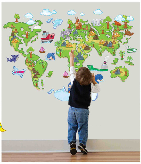 Cute 47x315 120x80cm large world map poster wall sticker for cute 47x315 120x80cm large world map poster wall sticker gumiabroncs Image collections