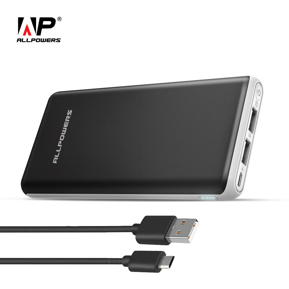 ALLPOWERS batterie externe 20000 mAh Portable batterie externe double sortie USB Charge rapide pour iPhone X Xiao mi a2 Note 8 Xio mi Honor