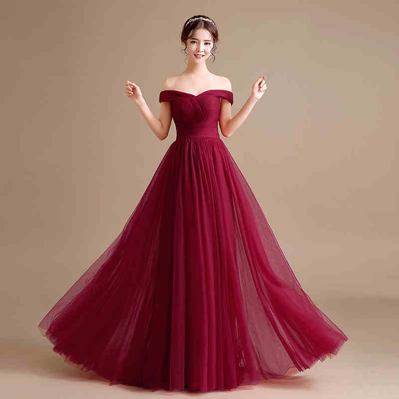 A Line Off The Shoulder Tulle Long Maternity Evening Dresses For
