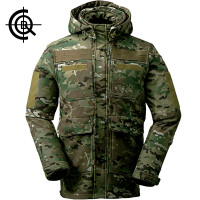 CQB Outdoor Softshell Jacket Men Camouflage Water Repellent Camping Hiking Hunting Multi Pocket Clothes CYF0673
