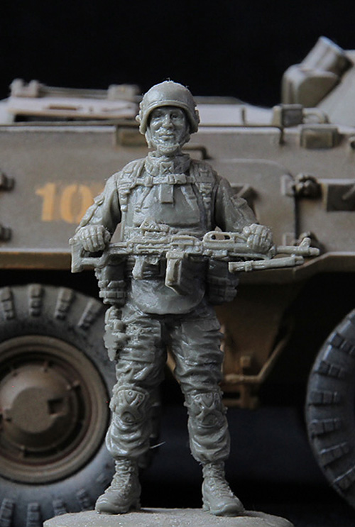 Assembly Unpainted  Scale 1/35 Officer    Of Speznaz Of Modern Russia   Historical Toy Resin Model Miniature Kit