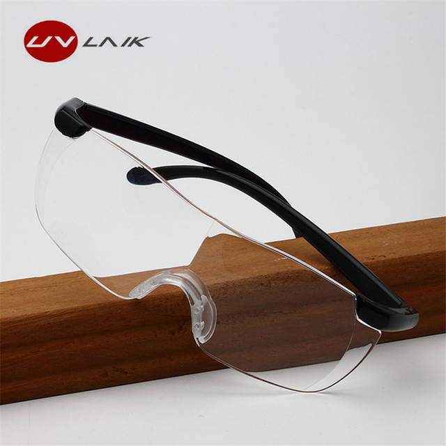 UVLAIK Fashion Big Vision 250% Reading Glasses Magnifies Vision 250 Degree Magnification Lens Presbyopia Eyewear +250