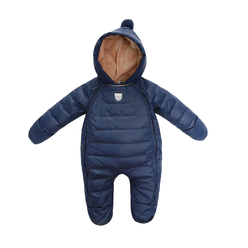 Baby Rompers Newborn Baby Girl Thermal Duck Down Winter Snowsuit Baby Cute Hooded Jumpsuit Newborn Baby Boy Clothes Ski Suit купить в Москве 2019