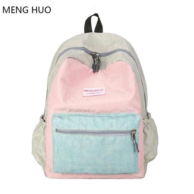 f8b6b4911 Universidad mochilas mujeres mochila 2018 mochila de viaje impermeable  hombro escuela bolsas para las niñas mochila