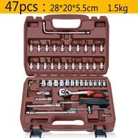 47 pcs Ratchet Wrench Set Tool Household Socket Wrench Sleeve Set