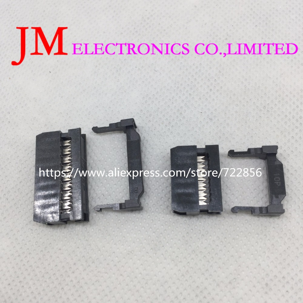 10pcs FC series Dual Row Pitch 2.54mm IDC Socket Connector Female Header cable socket 6 8 10 12 14 16 20 26 30 34 40 50 60 64Pin 200 pcs fc 14p 14 pins male idc socket plug ribbon cable connector black free shipping