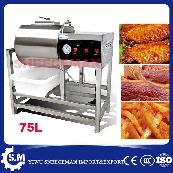 75L Commercial Vacuum Meat Salting Marinated Machine hamburger pickling vacuum curing machine bloating marinated machine 35l meat salting marinated machine chinese salter machine hamburger shop fast pickling machine with timer