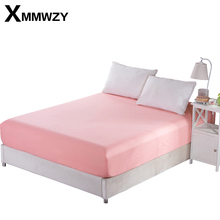 1Pcs Deep 25cm Solid Color Fitted Sheet Mattress Cover Bedding Home Linens Bed Sheets With Elastic Band Size 180x220cm 200x220cm