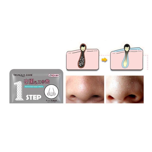 1Pc BIOAQUA Beauty Pig Nose Mask Remove Blackhead Acne Remover Clear Black Head 3 Step Kit Skin Care korean Cosmetic
