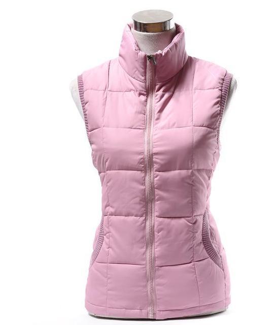 Autumn winter women cotton vest collar warm down coat women warm cotton jacket Brand Designer Sleeveless Hoody Casual suit vest