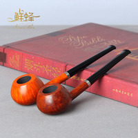 NewBee Handmade Briar Wood Tobacco Pipe Straight Smoking Pipe Gifts For Men No Filter Aa0074