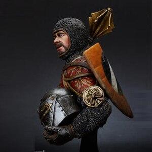 Image 3 - 1/10 harz Büste modell kit Italienischen Horseman w/Keule, 14th c geschichte figuren Unlackiert