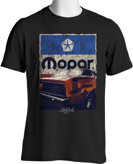 Laid-Back USA Garage T Shirt Mopar Grunge Cuda Pentastar Vintage Tee euro sizeS-XXXL
