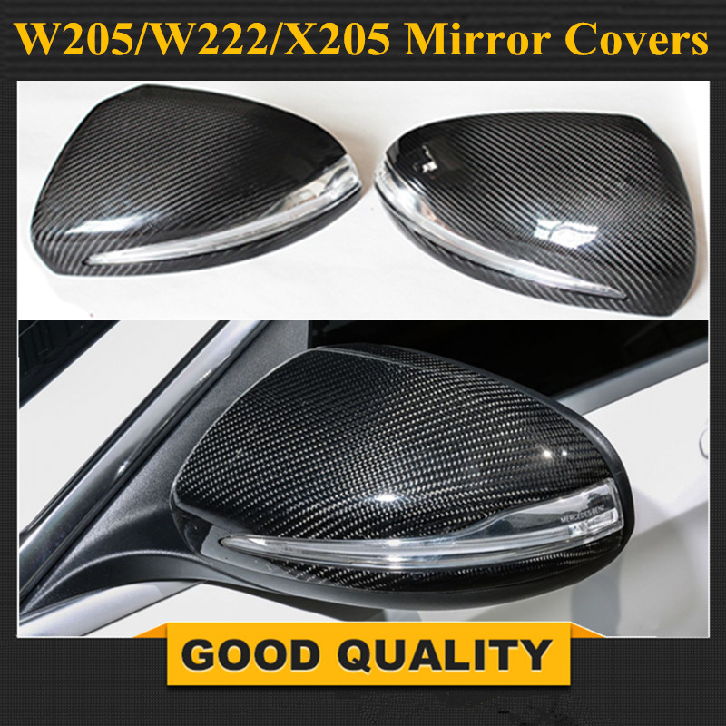 2015 2016 mercedes classe c w205 in fibra di carbonio di ricambio porta laterale wing mirror covers per benz e W213 classe s w222 car styling-in Specchietti e accessori da Automobili e motocicli su Shenzhen Carosy products Supplies Store