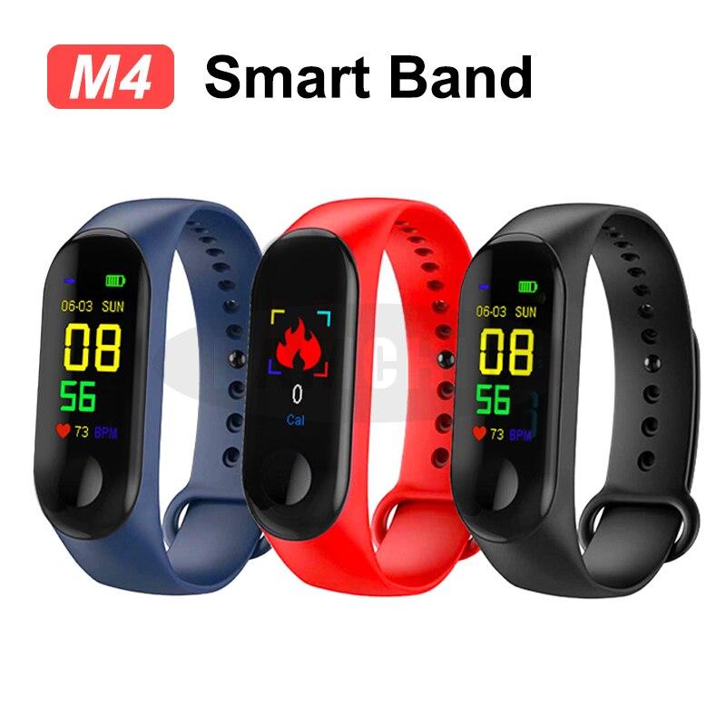 M4 Banda Inteligente Pulseira Esporte Inteligente Relógio da Frequência Cardíaca Monitor de Pressão Arterial Inteligente Saúde Aptidão Rastreador Pulseira