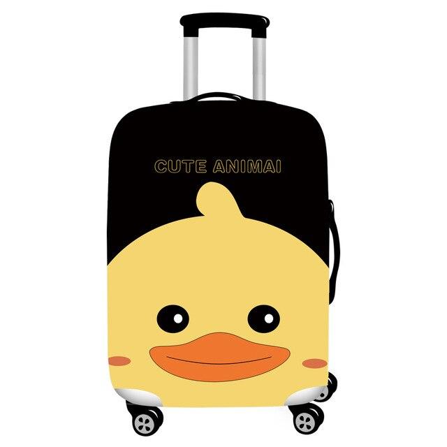 HMUNII карта мира, дизайнерский защитный чехол для багажа, Дорожный Чехол для чемодана, эластичные пылезащитные Чехлы для 18-32 дюймов, аксессуары для путешествий - Цвет: Little yellow duck