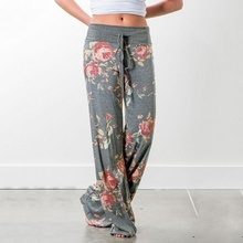 clothes women new womens floral print casual printed loose trousers female  pants