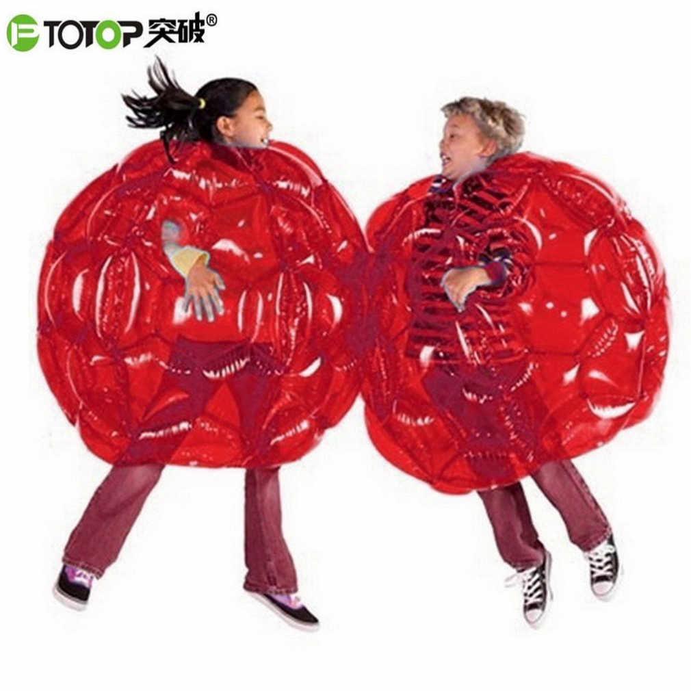 цена PTOTOP Children Inflatable Body Zorb Balls Bubble Soccer Suits PVC Outdoor Games Funny Body Bumper Ball Toy For Kids 60*60*55cm онлайн в 2017 году